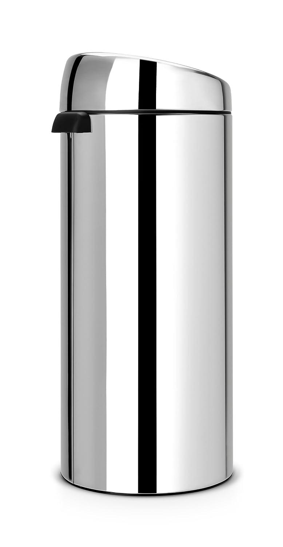 Brabantia Touch Bin 30 Liter Flat Top.Brabantia Touch Bin 30 L Brilliant Steel