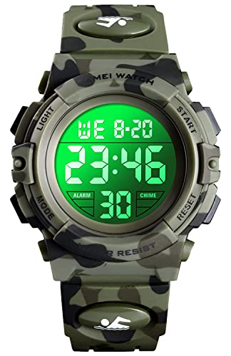 Amazon.com: Kids Digital Sport Watch Boys Waterproof Casual ...