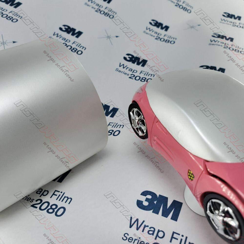 3M 1080 Satin Pearl White   SP10   Vinyl CAR WRAP Film (Sample 2.5in x 4in)