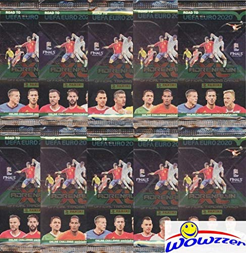 2020 Panini - 2020 Panini Adrenalyn Road to UEFA EURO Collection of TEN(10) Factory Sealed Packs with 60 Cards! Imported from Europe! Look for Top Stars including Ronaldo, Modric, Mbappe, Kane & Many More! WOWZZER!