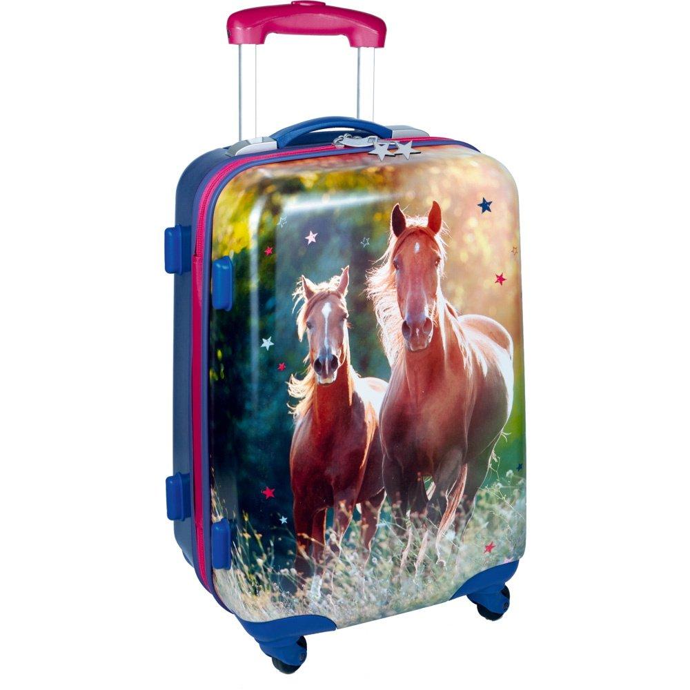 14184, Valigia - trolley per bambini - serie 'Amici dei Cavalli'