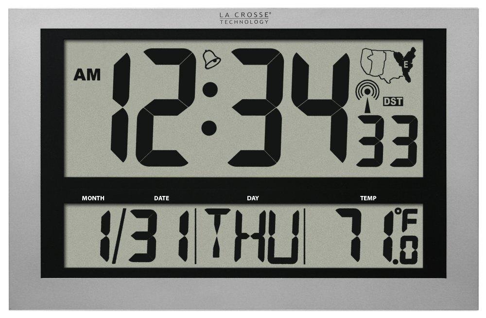 Amazon La Crosse Technology 513 1211 Atomic Wall Clock With