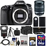Canon EOS 80D Wi-Fi Digital SLR Camera Body with 18-200mm IS Lens + 64GB Card + Battery + Case + Flash + Tripod + Kit