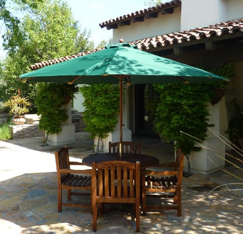 Replacement umbrella canopy for 11ft 8 ribs Green (Canopy
