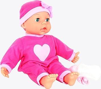 Ab 2 Süße Amia Puppen Kleidung für Puppen von 40-46 cm 3 teil Neu Kleid Rosa Kleidung & Accessoires