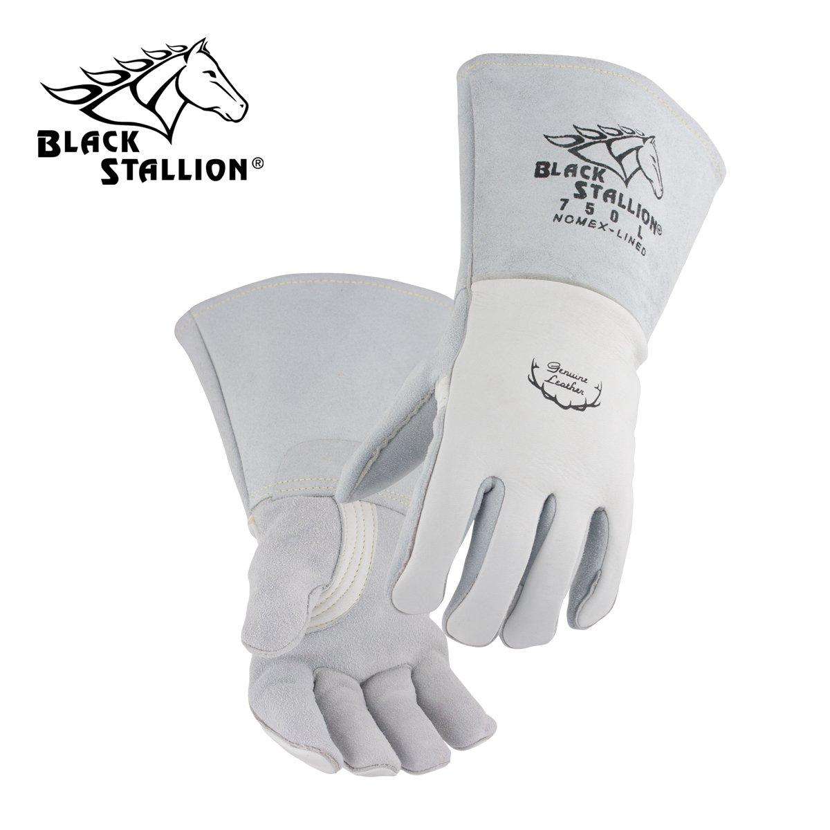 Revco 750-S Black Stallion Welding Glove, Premium Grain Elk Skin, Small  (12 Pairs)