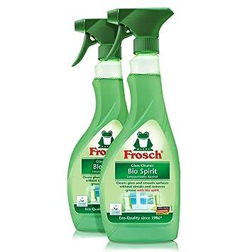 Espíritu de rana de vidrio limpiador botella de Spray, 2 Pack (2 x 500