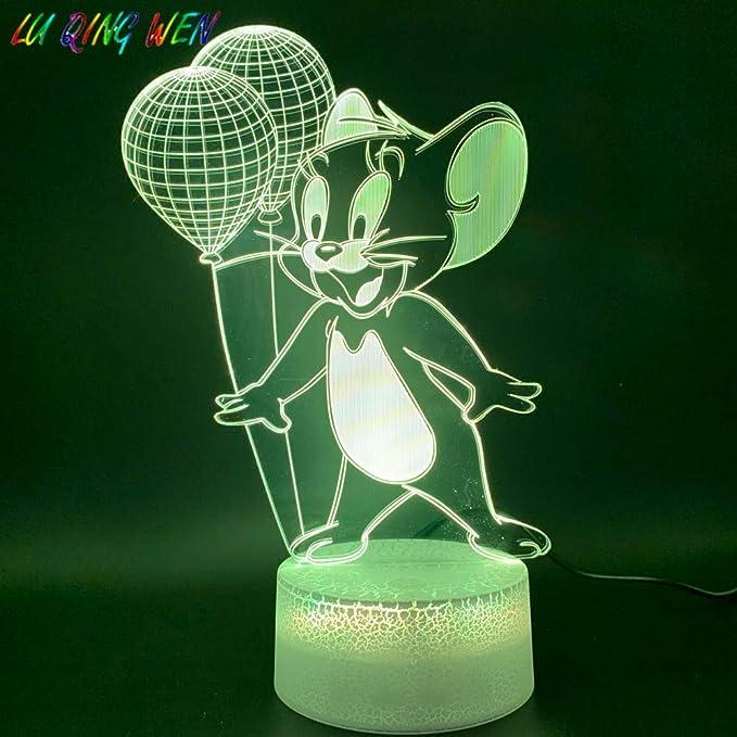 Luces Nocturnas de plomo Ratón Globo Estatua Decoración del hogar ...