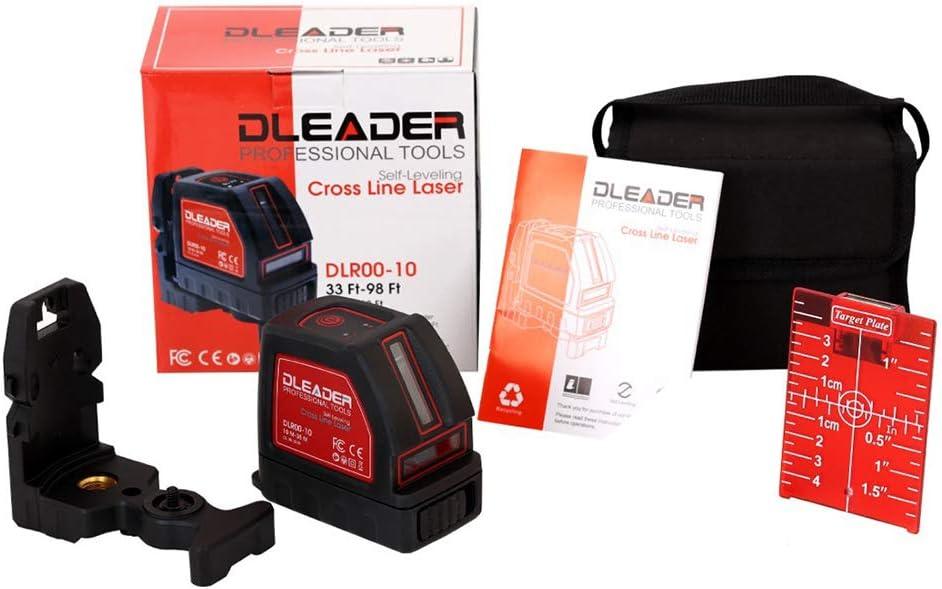 LZHJ Kit de Nivel láser, Nivel de silenciador láser de línea Cruzada, Gafas de Seguridad para protección Ocular con Base de Montaje magnética,Rojo