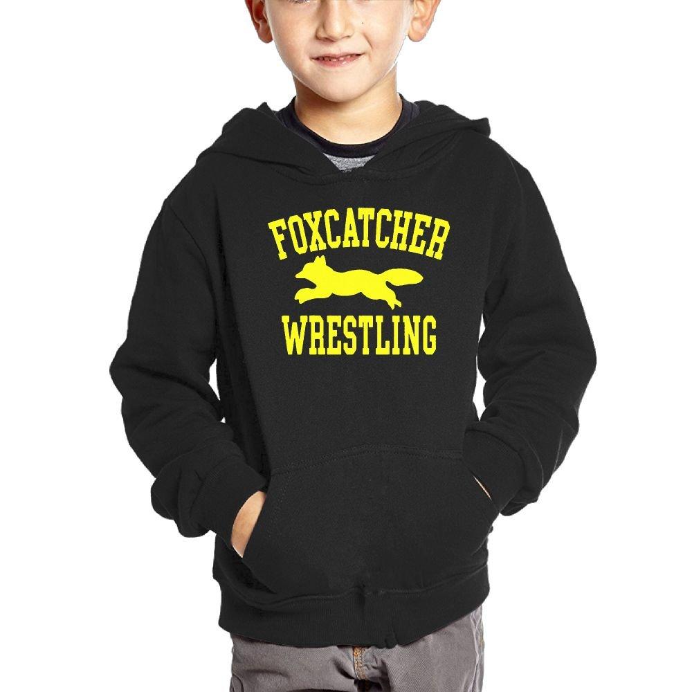 BlackRed Wrestling Sports Children Long Sleeve Sweatshirt 4 Toddler Black Unisex