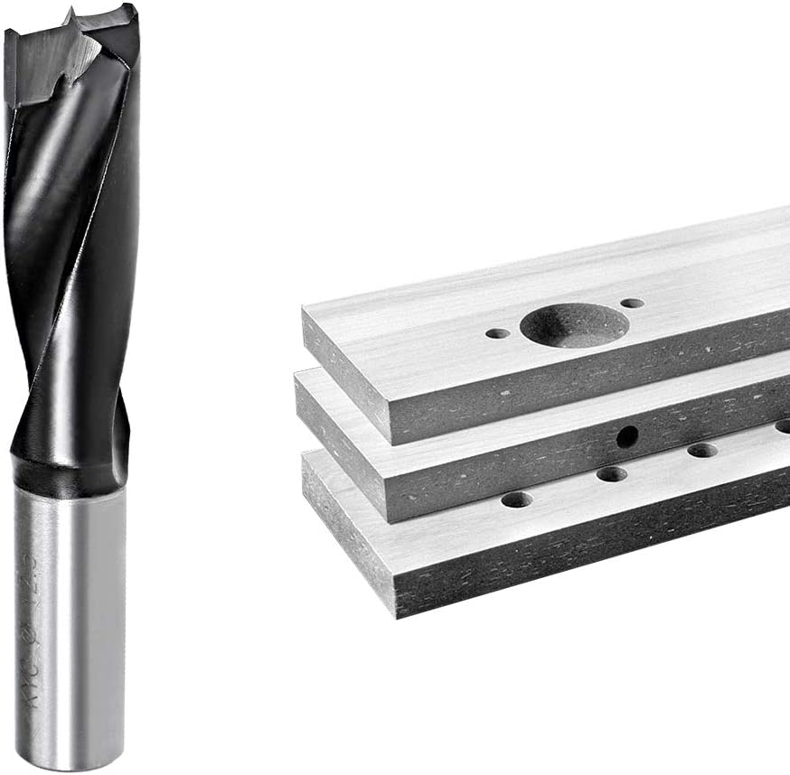 uxcell/® Brad Point Drill Bits for Wood 12.5mm x 70mm Forward Turning HSS for Woodworking Carpentry Drilling Tool