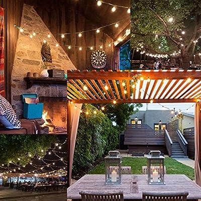 BRTLX Guirnalda Exterior Luminosas,18.3ft G40 Cadena de Luces LED con 12 Bombillas(2 Bomnillas de Reemplazo) Perfecto Para Patios,Jardines,Café,Cobertizos,Bodas,Pérgolas: Amazon.es: Iluminación