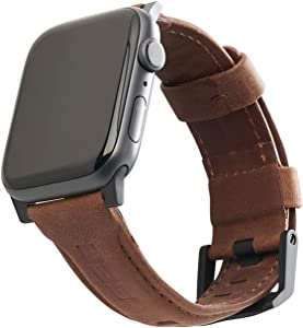 URBAN ARMOR GEAR UAG Compatible Apple Watch Band 40mm 38mm, iWatch Series 6/5/4/3/2/1 & Watch SE, Top Grain Italian Leather Replacement Strap, Leather Brown