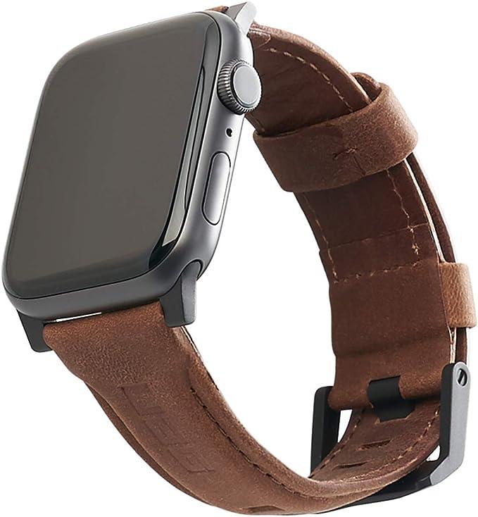 Oferta amazon: Urban Armor Gear Cuero Correa Para Apple Watch (42Mm) y Apple Watch (44Mm) (Watch Se, Series 6 / Series 5 / Series 4 / Series 3 / Series 2 / Series 1, Correa Reemplazable) Marrón