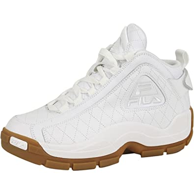 Fila Mens 96 Quilted White Gum Hightop Basketball Shoes Sneakers ...