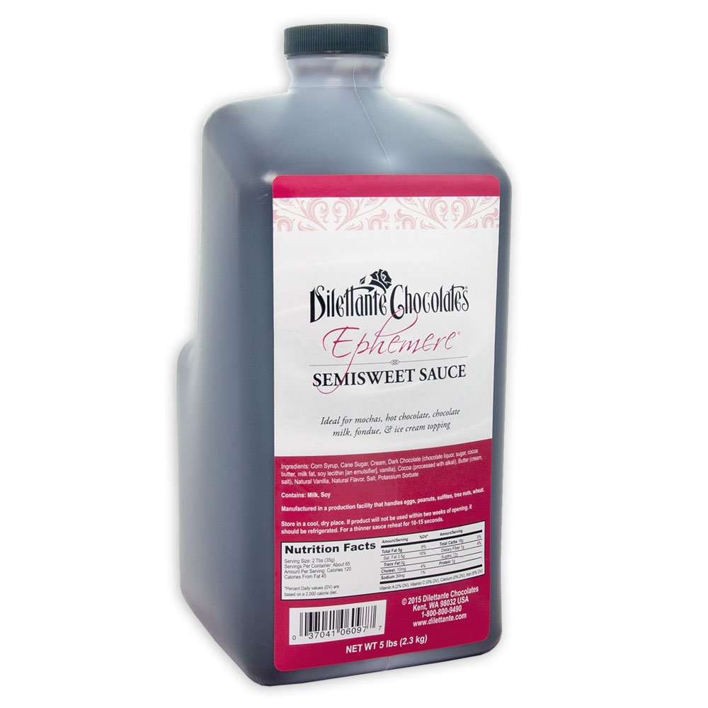 Ephemere Semisweet Chocolate Truffle Sauce - 5.25lb Jug - by Dilettante by Dilettante (Image #1)