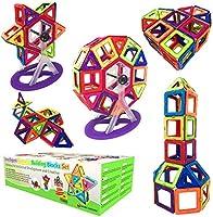 Desire Deluxe Bloques de Construcción Magnéticos Infantiles - Juego Creativo Educativo de 94 Piezas de Formas Geométricas con Imanes para Estimular la Imaginación Ideal como Regalo para Niños y Niñas