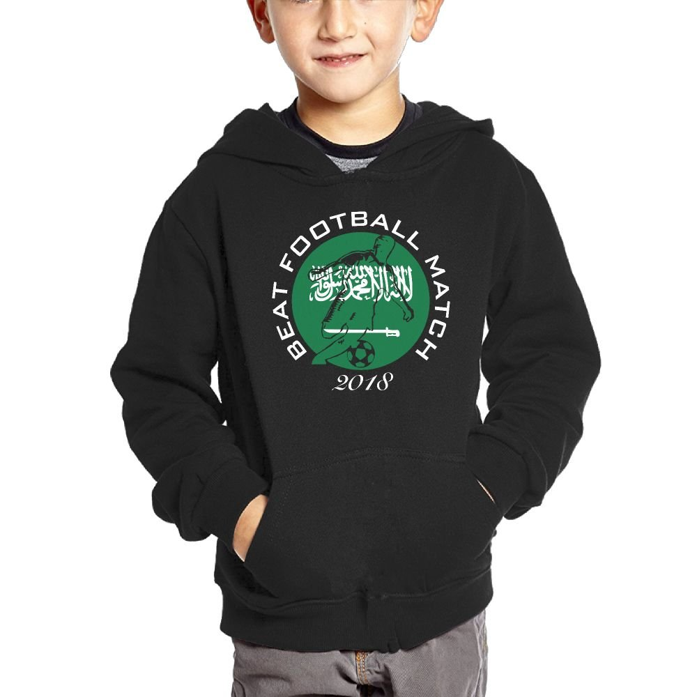 Best Football Match 2018 Saudi Arabia Boys Casual Soft Comfortable Sweatshirts Kangaroo Pocket Hoodies