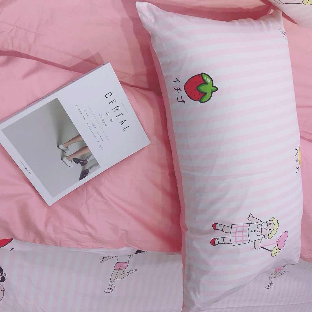 DEERHOME young girls Series Cotton Twin Bedding Collections White 3 Pieces Reversible Promotional Comforter Cover Sets With 4 Corner Ties For Kids Adults little girl, Twin