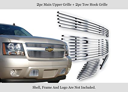 Chrome Headlight Bezels for 2007-2014 Chevy Tahoe by Sizver Set of 2