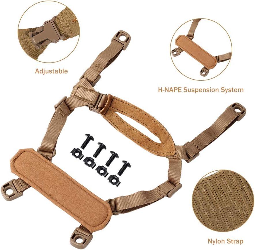 FMA 4 points Casque Tactical accessoires système de rétention Menton Sangle avec bol...