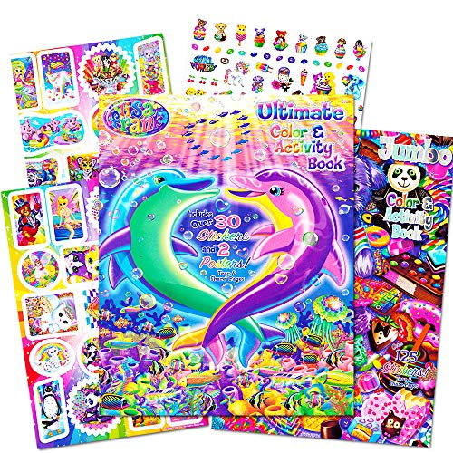 (Lisa Frank Stickers and Coloring Book Super Set (2 Books - Over 150 Stickers, 2 Posters and 100 Pages of Coloring Fun Featuring Lisa Frank!))