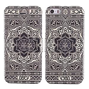 Big Flower Design PU Phones Full Body Case with Card Slot For Case Iphone 5/5S Cover