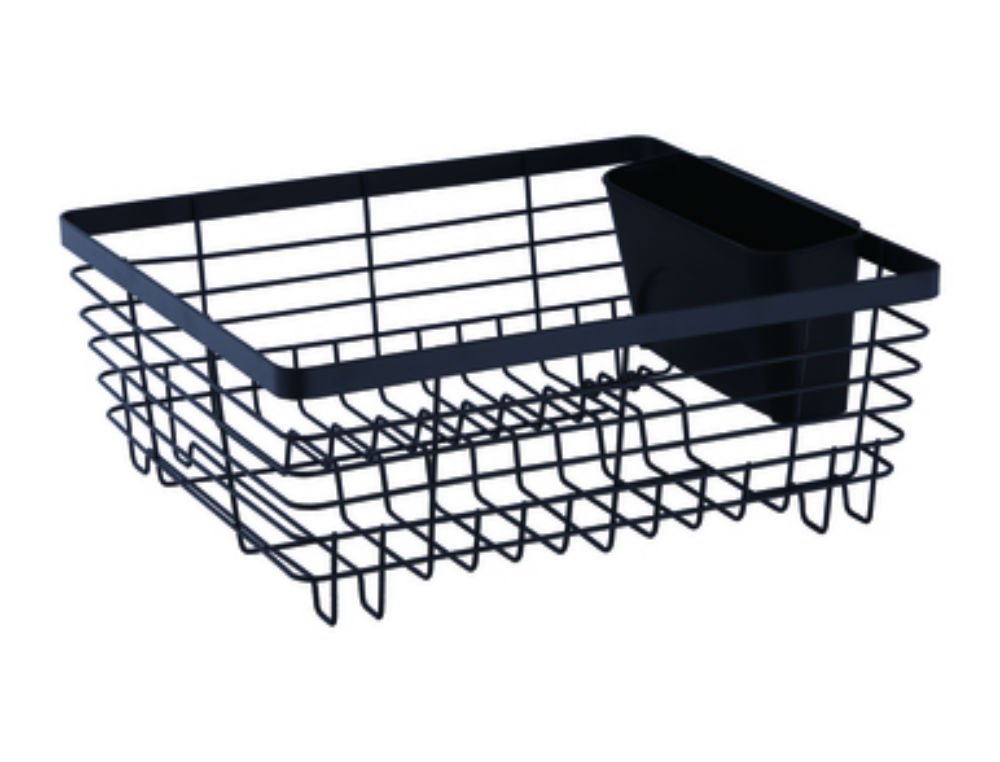 Stylish Sturdy Oil Rubbed Bronze Metal Wire Small Dish Drainer Drying Rack by Neat-O (Image #6)