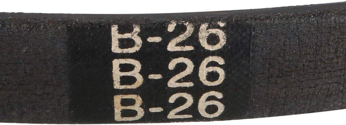 sourcing map Keilriemen Treibriemen Industriegetriebe B30 /Übertragungsriemen Gummi 30 Inch Umfang