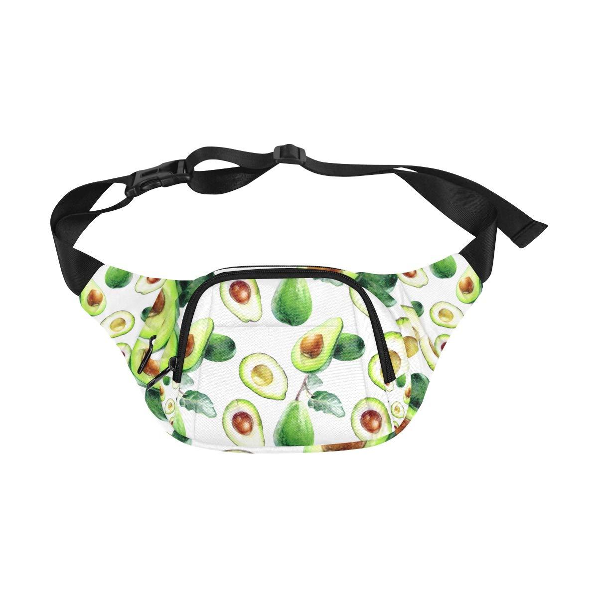 Avocado Tropical Fresh Fruit Fenny Packs Waist Bags Adjustable Belt Waterproof Nylon Travel Running Sport Vacation Party For Men Women Boys Girls Kids