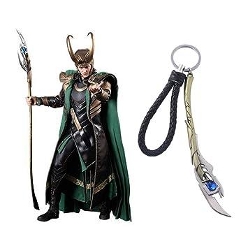 TUDUDU Joyas De Marvel Los Vengadores 4 Loki Cetro Llavero ...