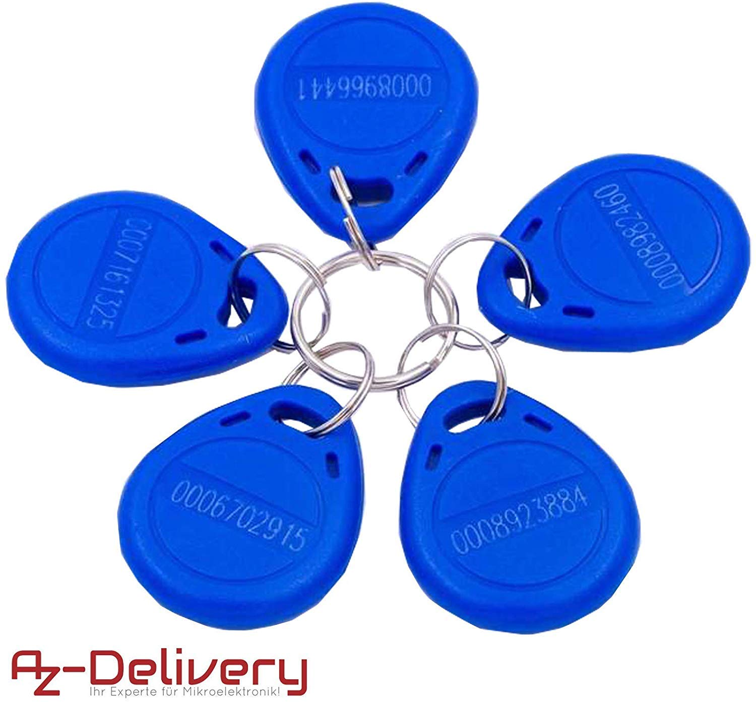 AZDelivery 5 x RFID Chip with 125 kHz RFID Transponder including eBook