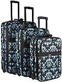 Damask 3 Piece Expandable Luggage Set
