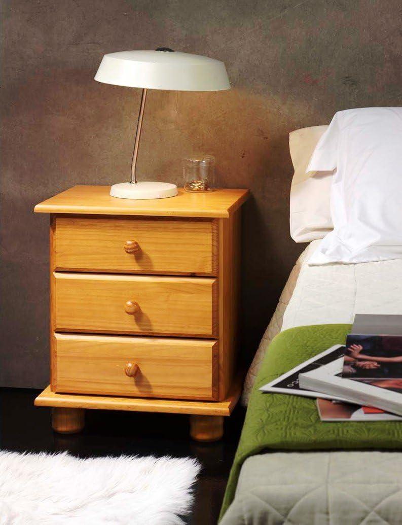 Farbe Honig Dogar Altea/ /Nachttisch mit 3/Schubladen