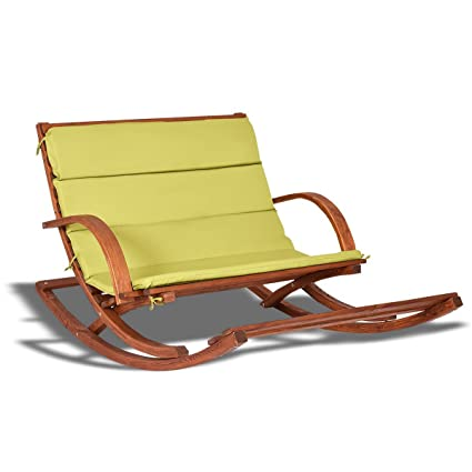 amazon com bestchoiceforyou outdoor 2 persons rocking wooden