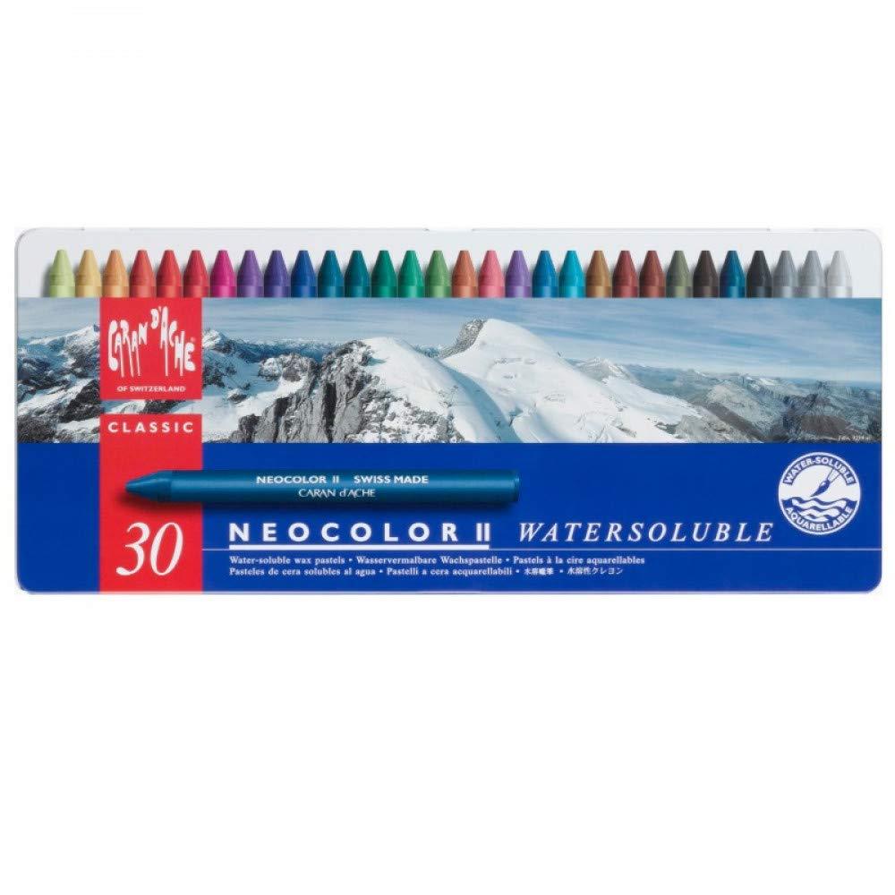 Caran d'Ache Classic Neocolor II Water-Soluble Pastels, 30 Colors by Caran d'Ache