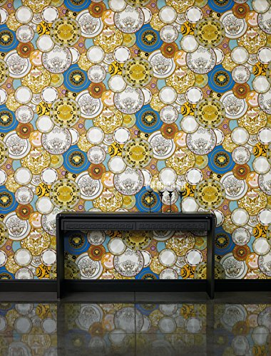 "(Versace Wallpaper, ""Etoiles de la Mer 2"", Nautical Decor - Textured Pattern - 27.56"