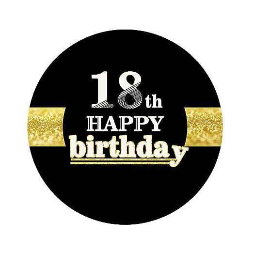 Amosfun 12pcs 18vo Pegatinas de Feliz cumpleaños 18 ...
