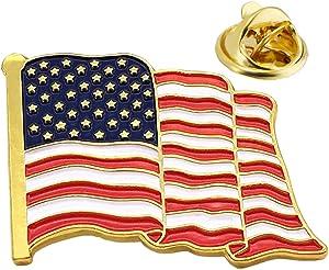 Free American Flag Lapel Pins-6/12/24 USA Metal Enamel...