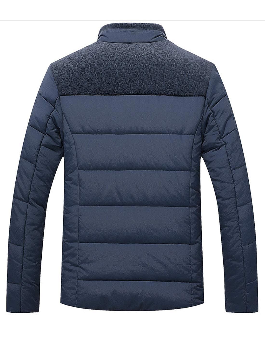 Lentta Mens Business Casual Zip Up Down Cotton Padded Jacket Coat Windbreaker