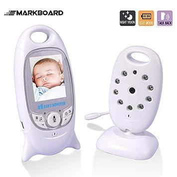 mit Gegensprechfunktion Digital mit Temperatursensor Schlaflieder Nachtsicht Video Babyphone Wireless Baby Monitor MARKBOARD Babyphone mit Kamera