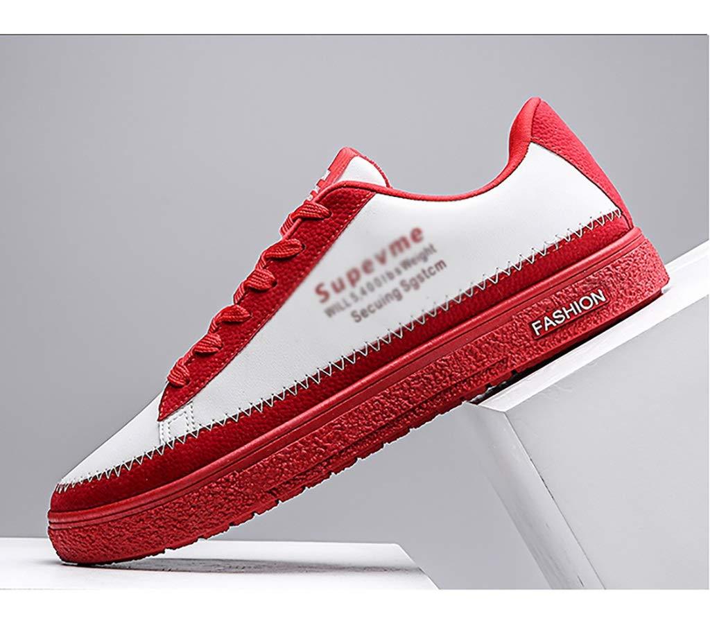 C ZYFA Casual shoes Casual shoes leather lace-up shoes flat rubber sole wear-resistant wild tide shoes (color   A, Size   42)