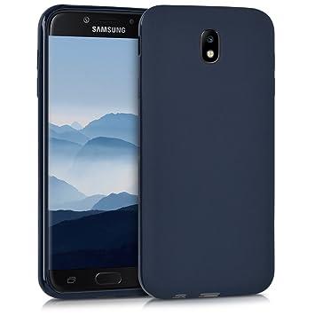 kwmobile Funda para Samsung Galaxy J7 (2017) DUOS - Carcasa para móvil en [TPU Silicona] - Protector [Trasero] en [Azul Oscuro Mate]
