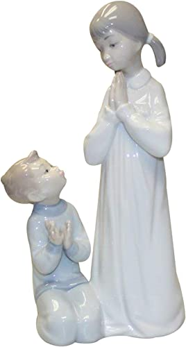 Lladro Figurine, 4779m Teaching to Pray, Children praying matte