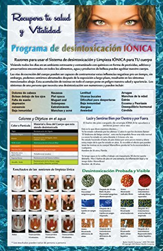 Cartel promocional de Desintoxicacin Inica Bao de Pies Inico Spa Chi Limpieza. Detox Foot Bath Poster in Spanish by Better Health - Spanish Mall In