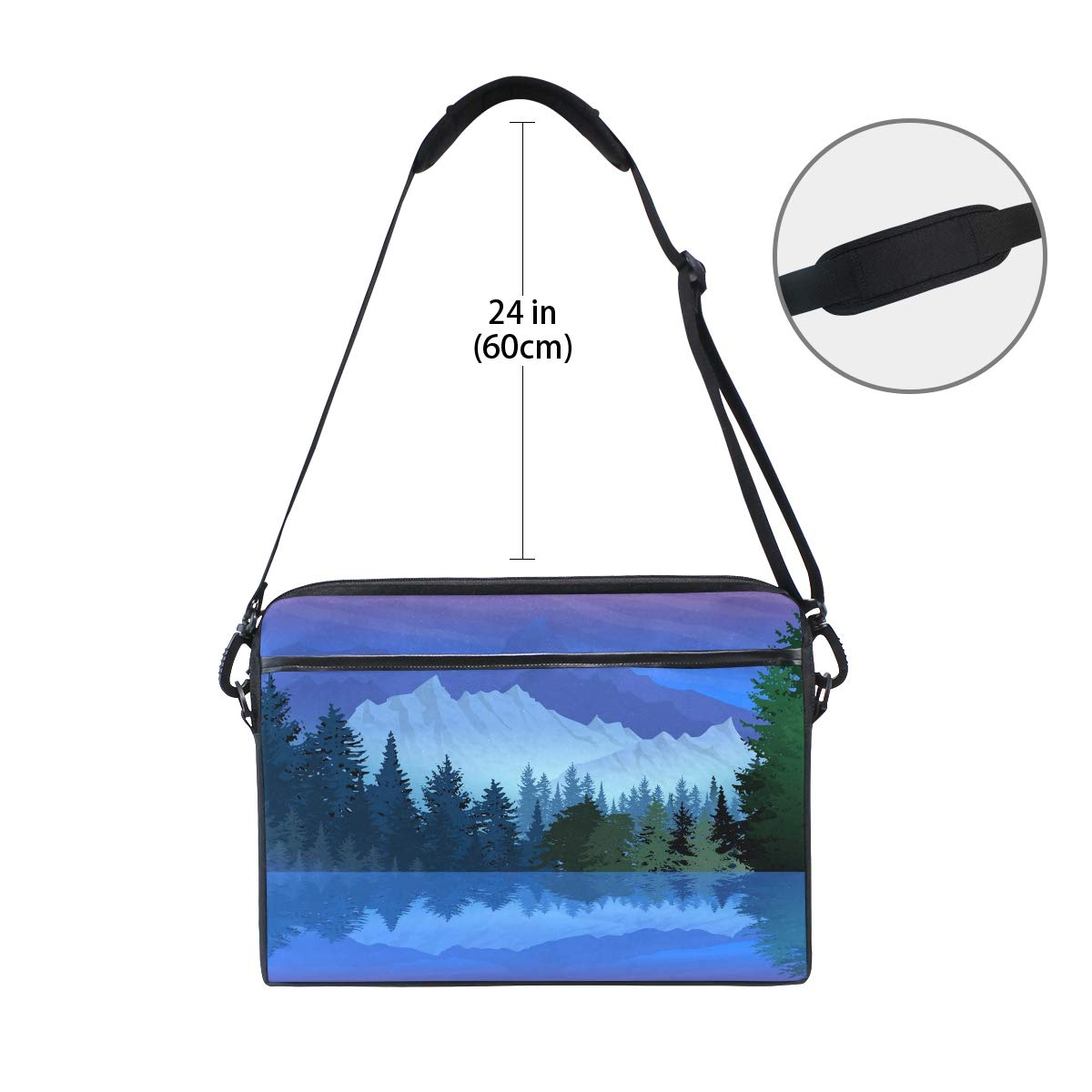 Shoulder Bags Briefcases Suitable for 15 Inch Computers Snow Mountainmens and Womens Computer Bags Handbags