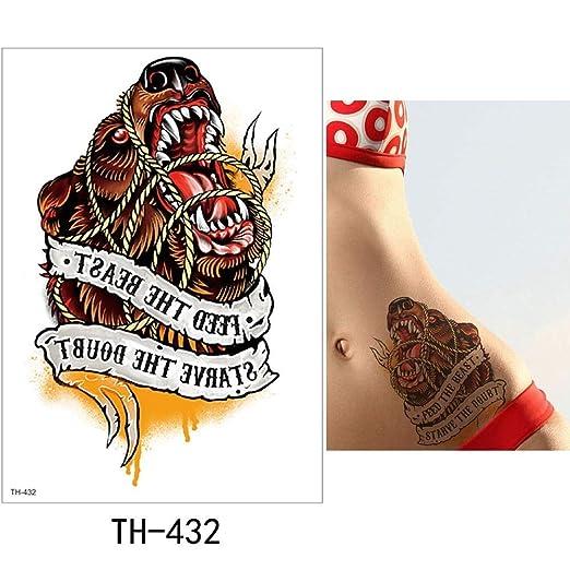 adgkitb Etiqueta engomada del Tatuaje Temporal 3pcs Tatuaje Falso ...