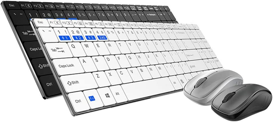 SELCNG Multi-Mode Wireless Mouse and Keyboard Set Bluetooth Office Multimedia Home Mouse and Keyboard Set