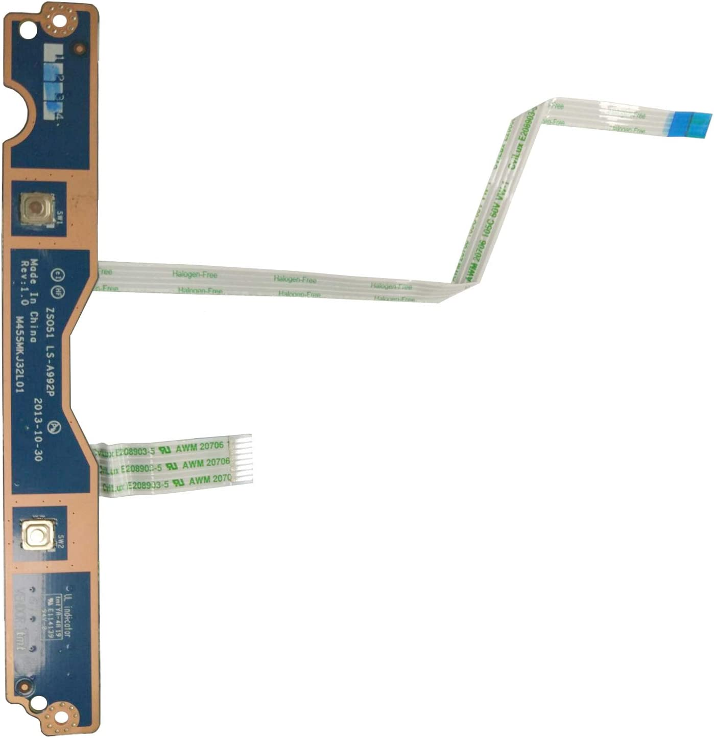 Todiys Touch Button Board for HP Pavilion 15-G 15-G000 15-G100 15-R 15-R000 15-R100 Series LS-A992P 15-G059WM 15-G173WM 15-R052NR 15-R132WM 15-R264DX M455MKJ32L01 ZSO51