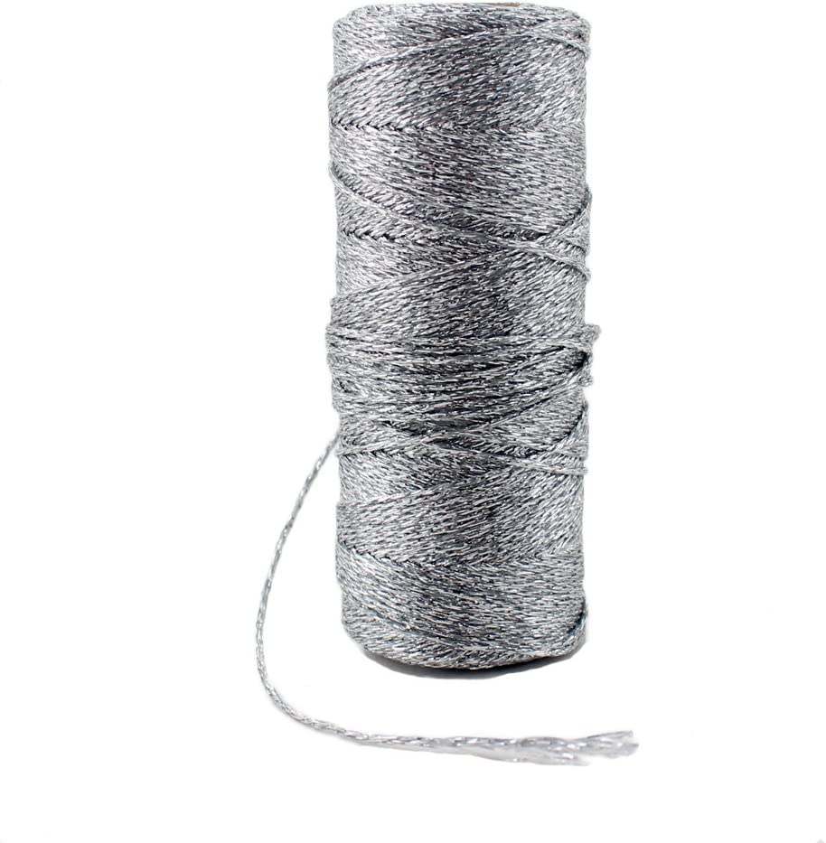 Ipalmay 100m Metallic Rose Gold Bakers Twine Spool 3-Ply for DIY Crafts Arts or Gift Wrapping